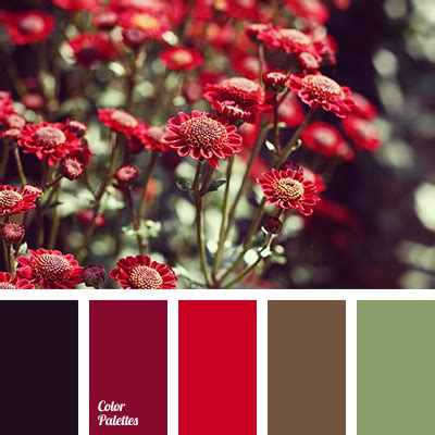 red color color palette ideas