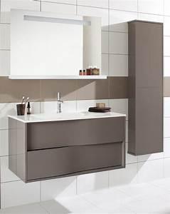 stunning salle de bain taupe et noir pictures amazing With salle de bain design avec evier 120x60