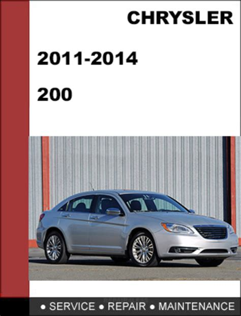 small engine maintenance and repair 2011 chrysler 200 seat position control chrysler 200 2011 2014 factory workshop service repair manual tradebit