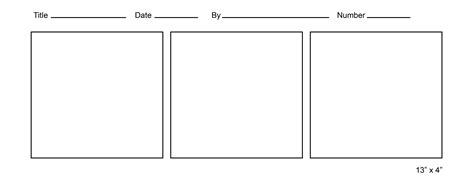 Printable Comic Strip Template