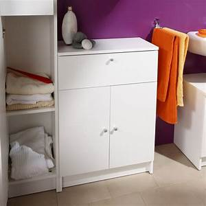 Meuble Bas 2 Portes : meuble bas 2 portes remix blanc ~ Dallasstarsshop.com Idées de Décoration