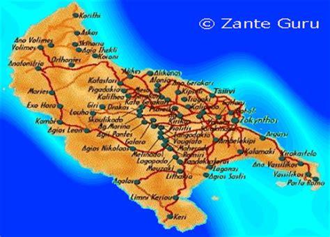 zante guru zante zakynthos map