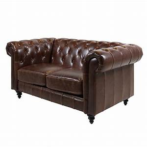 2 Sitzer Sofa Leder : sofa 2 sitzer charlietown polstersofa antik bycast leder braun chesterfield stil ~ Bigdaddyawards.com Haus und Dekorationen