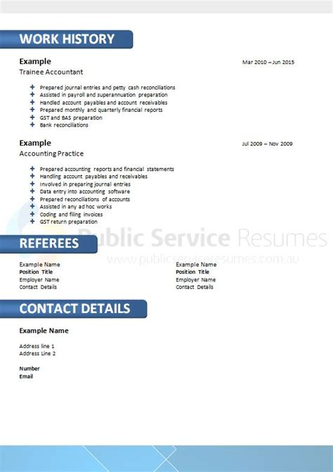 Ensure Customer Satisfaction Resume by Blue Government Resume Design 187 Service Resumes