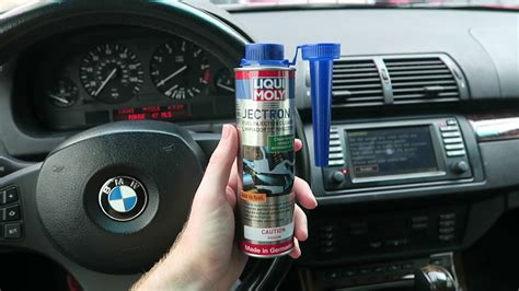 liqui moly jectron fuel injector cleaner review  bmw   work youtube