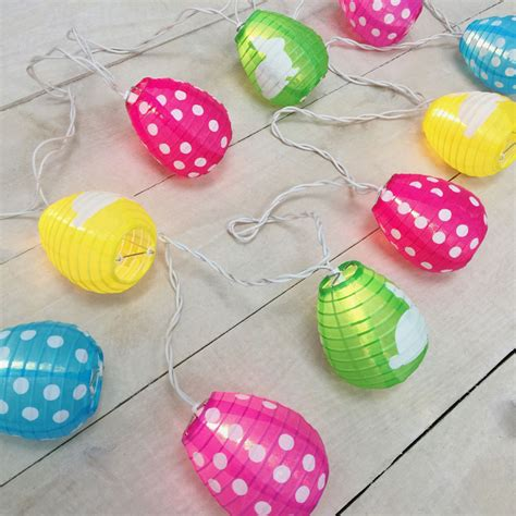 pastel easter egg lantern string lights