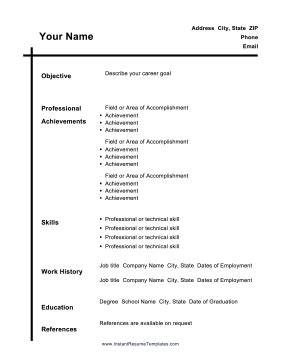 Free Resume Maker And Print by A Black Vertical Line Intersects A Horizontal Header Line