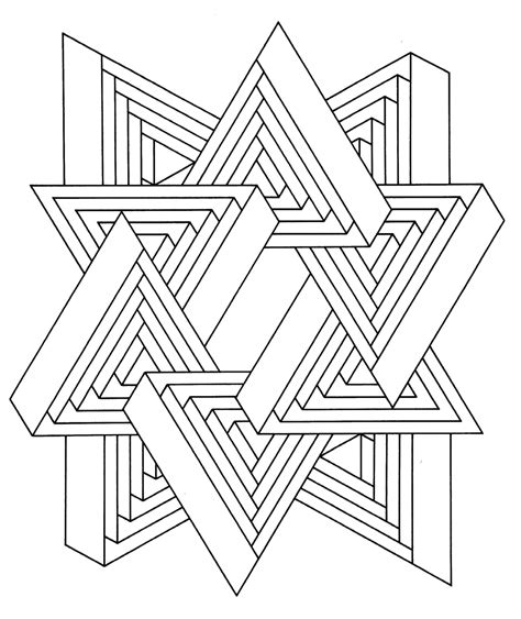 hard geometric coloring pages  print