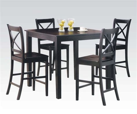 espresso counter height dining table 5pc espresso finish counter height dining table set