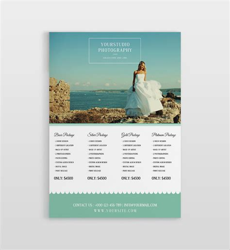 wedding price list samples sample templates