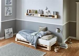 Bettgestell Auf Rechnung : atlantic home collection palettenbett aus massiver fichte ~ Haus.voiturepedia.club Haus und Dekorationen