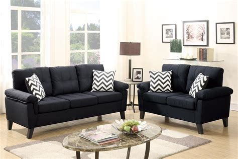 Black Fabric Loveseat by Black Fabric Sofa And Loveseat Set A Sofa