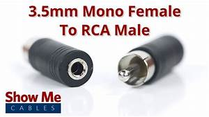 3 5mm Mono Female To Rca Male Adapter  958
