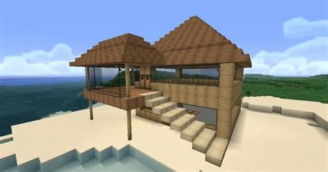 minecraft easy  build modern house google search
