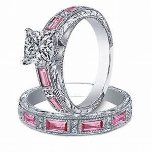 Diamond engagement rings engagement ring princess for Wedding ring sets with sapphire accents