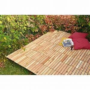 Terrassenplatten Holz Klicksystem : bauhaus holzfliesen holzfliese l rche von bauhaus ansehen ~ Michelbontemps.com Haus und Dekorationen