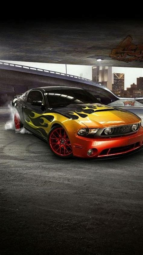 iphone  wallpapers hd cool mustang front car iphone