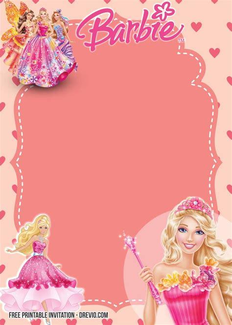 printable barbie birthday invitation templates