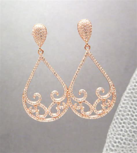 gold bridal earrings gold wedding earrings