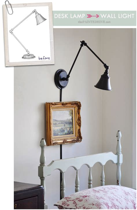 wall light for desk a desk l becomes a wall light the painted hive