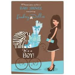 hot blue brown baby shower invitations
