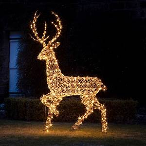 Grand Rattan Stag Light Up Figure By Lights4fun