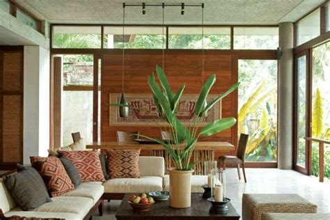 Bali Inspired Home Interior by Bali Living Room Combining The Dining Room And Living