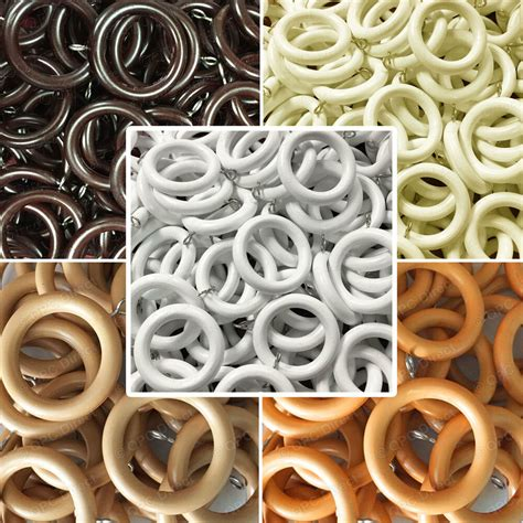 Drapery Ring by 10 Pack Strong Unbreakable Curtain Rings To Fit 28mm