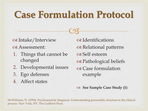 psychoanalytic case formulation attachment styles