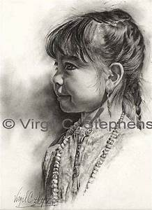 Ciarra Original pencil drawing by virgil c stephens