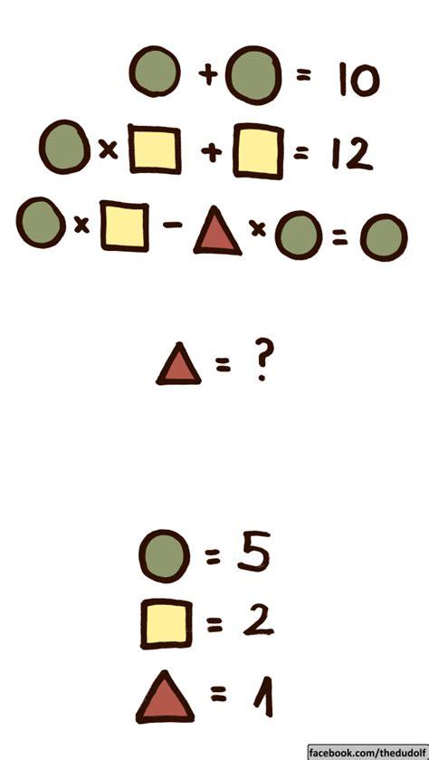 Entonces te retamos a resolver estos juegos, sigue las instrucciones y ve cuantos de ellos pudiste resolver correctamente. Nuevo acertijo matemático ¡resuélvelo con los niños ...