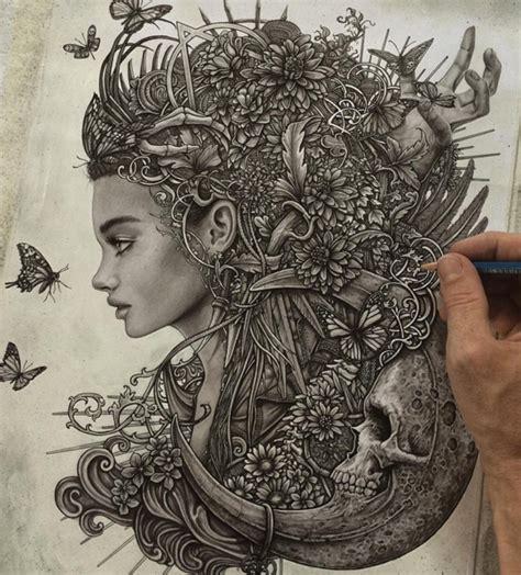 amazing surreal drawings  british artist christopher