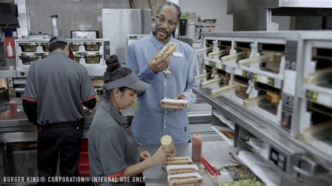 kelly stables burger king commercial watch burger king uses snoop dogg in hot dog training