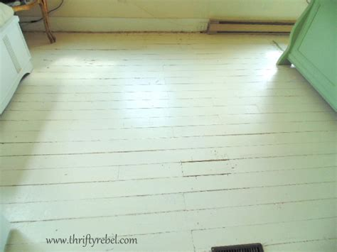 Painting an Antique Wood Floor - Thrifty Rebel Vintage