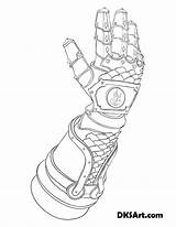 Gauntlet Coloring Gauntlets Outline Knight Template Printable Would Wear Fire Armor Fancy Templates sketch template