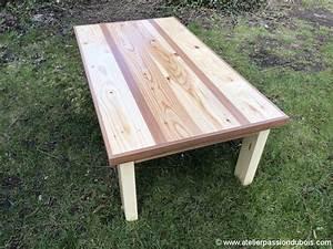 Table Basse Bois Exotique : table basse bois palette exotique atelier passion du bois ~ Dode.kayakingforconservation.com Idées de Décoration
