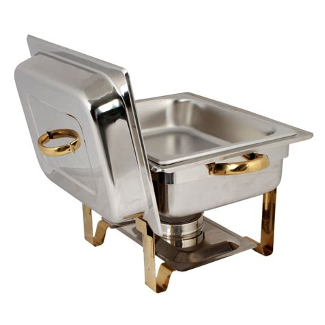 amazoncom tigerchef  quart  size gold accented chafing dish stainless steel chafing dish
