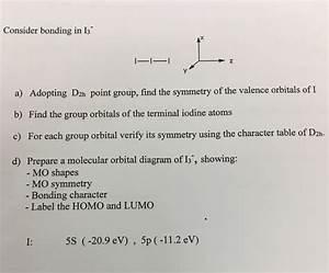 Solved  Consider Bonding In I 3 U0026 39  Adopting D 2h Point Group