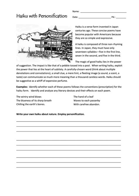 Check out our letter writing paper selection for the very best in unique or custom, handmade pieces from our stationery sets shops. Haiku With Personification Worksheet printable pdf download