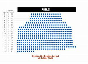 How Many Seats Are In Section 324 At Soldier Field