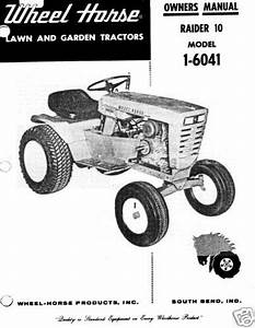 Wheel Horse Raider 10 Owners Manual Model 1