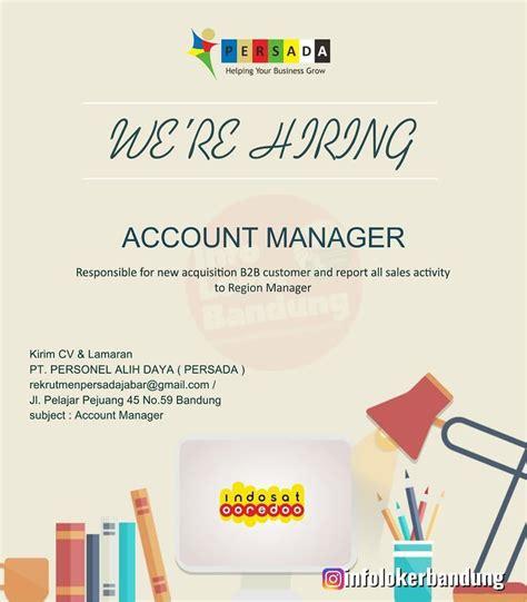 lowongan kerja account manager indosat pt pesonel alih