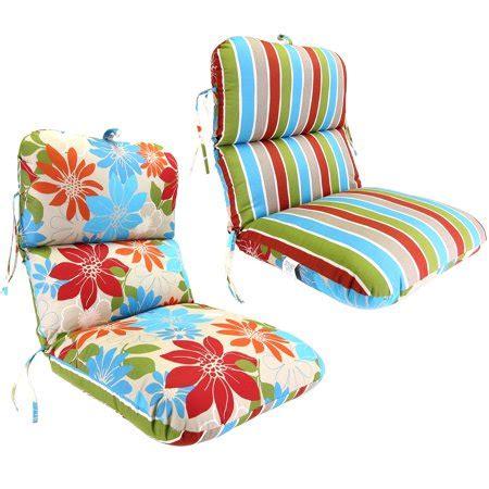 walmart patio furniture cushions reversible deluxe outdoor chair cushion walmart