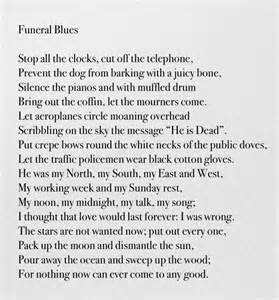 wh auden poems funeral blues