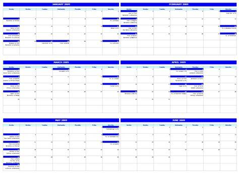 monthly calendar office templates