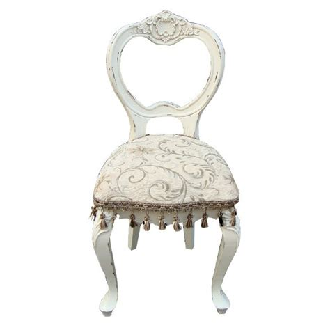 vintage antique white shabby chic bedroom chair