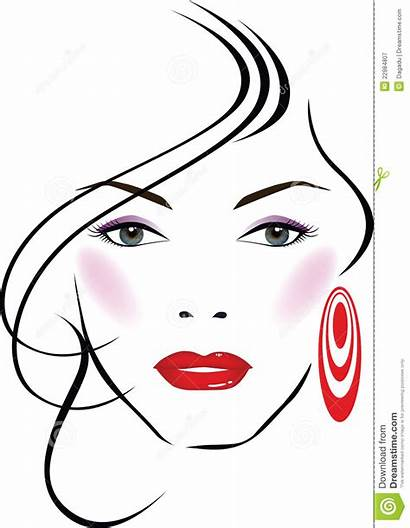 Face Clipart Clip Beauty Vector Royalty Dreamstime