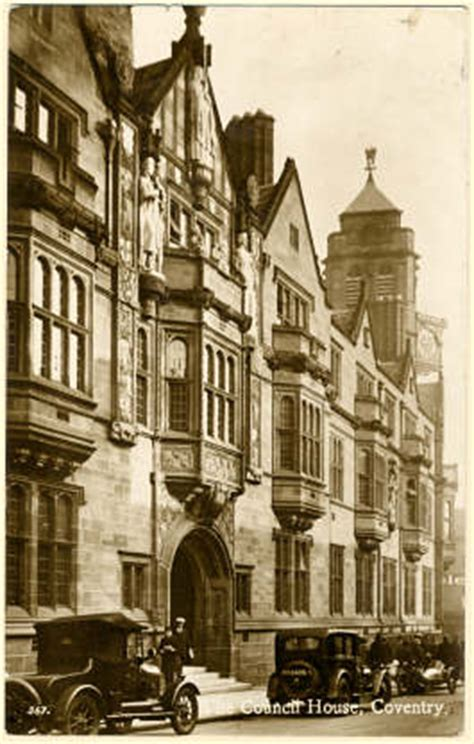 postcard  coventry   council house