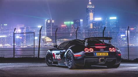 Download 4k Wallpapers Bugatti Veyron, Tuning, Night