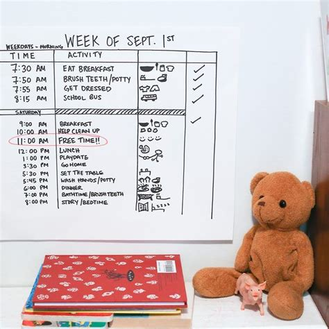 Au Pair Daily Schedule Template by How To Create A Schedule For A 5 Year Old Bug